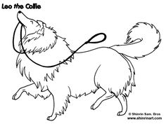 Adorable Collie Manga style art by Sam Bros