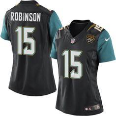 Nike Elite Allen Robinson Black Women's Jersey - Jacksonville Jaguars #15 NFL Alternate