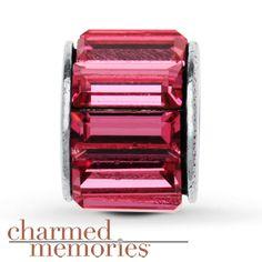 Charmed Memories Swarovski Elements Spacer Sterling Silver