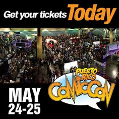 ¡¡¡NO TE QUEDES FUERA ESTE AÑO!!!! --> PUERTORICO COMIC CON 2014 el 24 y 25 de mayo en el Centro de Convenciones de PR. Comics, Juguetes, Invitados Especiales y muchas sorpresas. COMPRA TU BOLETO YA en ticketpop.com  #prcomiccon #comicsrules #cosplay #puertoricocomiccon #ticketpop