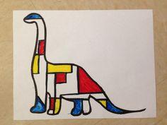 Piet Mondrian Styled Animals / Inspired by: http://www.artsandactivities.com/Itwkspg75/A100638.html