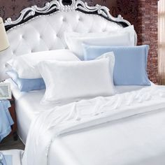2 Oxford silk pillowcases, 2 Housewife silk pillowcases, 1 silk fitted sheet and 1 silk flat sheet included. pure natural silk made from, comfortable and healthy. high protein contained, friendly to your skin and hair. from https://www.oosilk.com/us/6pcs-bed-linen-set-c.html Color: White Size: Twin / Full / Queen / King / Cal.King