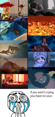 disney can be so sad...I actually DID start crying uncontrolably.....sniff sniff...the lion king and UP always get me.