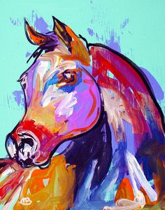 Abstract Horse I wish I knew the name of this artist but it no longer appears on Etsy :( Horse Drawings, Art Drawings, Abstract Animals, Abstract Art, Animal Paintings, Horse Paintings, Equine Art, Horse Pictures, Horse Art