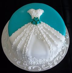 Wedding Shower Cake-Simple, yet Classy Absolutely One of My Favorites