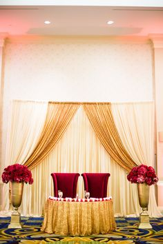 Red and gold ivory red rose flower wall frame backdrop decor ideas red and gold sweetheart table sarahkhaneventstyling skes sweethearttable indianwedding pakistaniwedding wedding tableswedding ideaswedding junglespirit Images