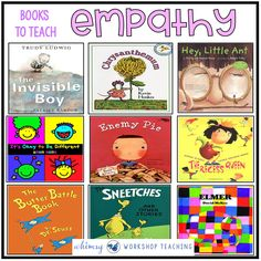 Using literature is an effective way to teach empathy, kindness and other social skills. Click on any of the books on this lis to see a full review.