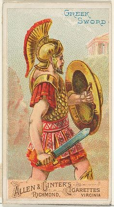 Greek Sword, from the Arms of All Nations series (N3) for Allen & Ginter Cigarettes Brands