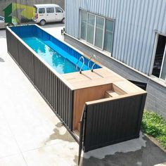 Source 2019 high quality Australia assembled container swimming pool on m. Building A Container Home, Container House Plans, Container House Design, 40ft Container, Shipping Container Swimming Pool, Shipping Container Homes, Container Architecture, Small Backyard Pools, Tiny House Cabin