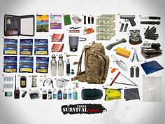 The Ultimate 72 Hour Bug Out Bag.Not sure about all of this, but some are good ideas to have. Sas Survival Guide, Urban Survival, Survival Tools, Camping Survival, Survival Knife, Survival Prepping, Emergency Preparedness, Survival Stuff, Emergency Bag