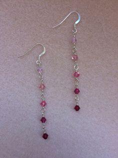 Shades of Pink Swarovski Earrings