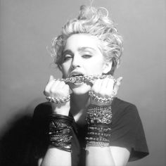 Madonna, 1983. You do not understand how much I idolized her. I had stacks on stacks of rubber bangles & lace fingerless gloves...lol...