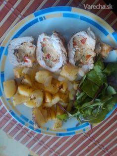 Pečené plnené kuracie prsia a stehná (fotorecept) - recept   Varecha.sk Potato Salad, Potatoes, Ethnic Recipes, Food, Meal, Potato, Essen