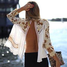 open blouse