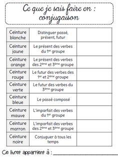 Ceintures de conjugaison Ce2 Conjugaison Ce2, Verbes, Evaluation Ce2, Jeux  Ce2, Grammaire e3eb6813b75