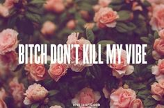 dont kill my vibe quotes quote flowers bitch Roses Tumblr, Being As An Ocean, Rose Quotes, Flower Quotes, Every Rose, Dont Kill My Vibe, Life Quotes Love, Fun Quotes, Fb Covers