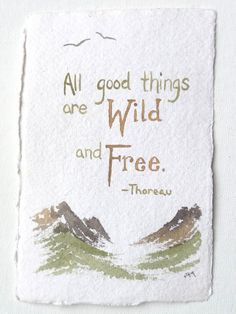 Thoreau quote original watercolor painting 4 x 6  by DreamofaDream