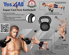 Yes4All Solid Cast Iron Kettlebell for Full Body Workout Review