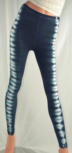 New HAPPY TIE DYE Side Stripes LEGGINGS Wet Sands /& White XS-XL American Apparel