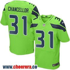 Men's Seattle Seahawks #31 Kam Chancellor Green 2016 Color Rush Stitched NFL Nike Elite Jersey