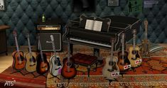 Sims 4 to 3 Musical Instruments - Sims 3 Downloads CC Caboodle
