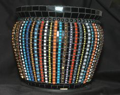 "Ceramic Tile ""Beaded"" Pot"