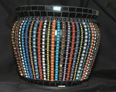 "Ceramic Tile ""Beaded"" Pot"
