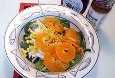 Ensalada primaveral de mandarina.