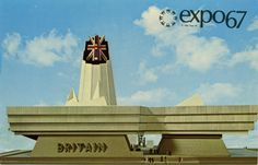 Someone's idea of 'futuristic'. - the British Pavilion at Expo Montreal, 1967 Uk College, London College, Royal College Of Art, Quebec, Montreal, European Airlines, Expo 67, Art Uk, World's Fair