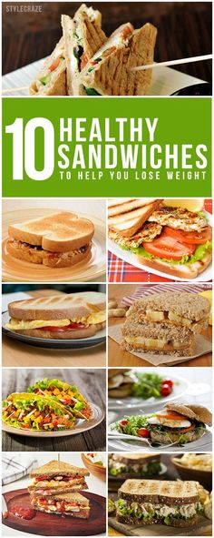 Healthy Tips 11 Healthy Sandwiches. We're a generation constantly pressed for time. - We're a generation constantly pressed for time. Come on and let us explore the ten healthy sandwiches for weight loss that keep you fit and healthy. Healthy Recipes For Weight Loss, Healthy Snacks, Snacks List, Healthy Drinks, Healthy Tips, Healthy Sandwiches, Healthy Sandwich Recipes, Diet And Nutrition, The Best