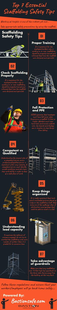 In this #infographic we describe the #Scaffolding #safety #Tips that helps to #prevent #injuries and #accidents on the worksite. To know more contact Bastion safety solutions.