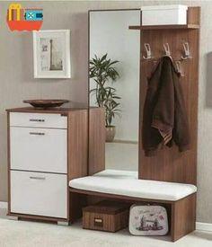 Hallway – Home Decor Designs Home Room Design, Interior Design Living Room, House Design, Hall Furniture, Furniture Design, Flur Design, Dressing Table Design, Cabinet Design, Room Decor