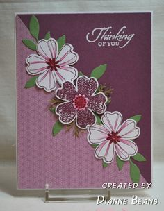 Wanted to post some of my favorite cards that I have made in the last few weeks. I love creating with flowers. Stampin' Up Flower Shop has q...