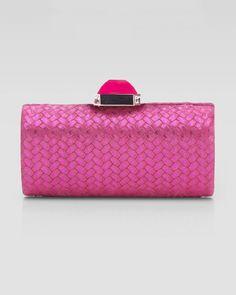 Overture Judith Leiber Pink Megan Cylinder Ii Clutch Bag