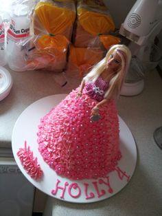 Barbie dolly Varden cake