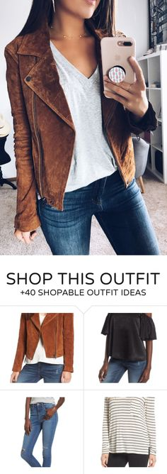 #summer #outfits Brown Suede Jacket + Grey Tee + Skinny Jeans Brown Suede Jacket, Gray Jacket, Chic Summer Outfits, Nordstrom Sale, Grey Tee, Dress To Impress, Blue Jeans, Skinny Jeans, My Style
