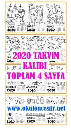 2020 Yaprak Takvim K Drawing For Kids, Bullet Journal, Words, Horse