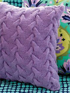 Sculpture Pillow from the Rowan Website - Free Pattern
