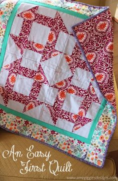 An Easy First Quilt www.amygigglesdesigns.com
