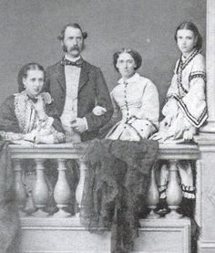 Princess Alexandra & Princess Dagmar with their parents, King Christian IX & Queen Louise of Denmark