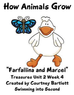 Swimming Into Second: Farfallina and Marcel 2nd Grade Ela, Second Grade, Treasures Reading, Reading Street, First Grade Reading, Science Lessons, Reading Activities, Teaching Tips, Marcel