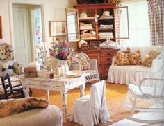 Vintage Chic Living Room | Shabby chic style lovers look for well loved, slightly neglected ...
