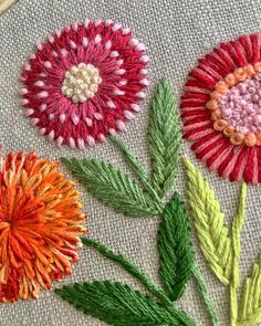 New flower stitches
