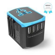 Universal Travel Adapter All-in-one International Power Plugs High Speed 4 - Travel Adapter - Travel adapter for sales High Speed 2, Travel Items, Packing List For Travel, Protective Cases, Plugs, Usb, Watch, Amazon, Link