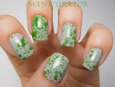 manicurator: Abstract Nail Art Challenge - Household item (spray bottle splatter)
