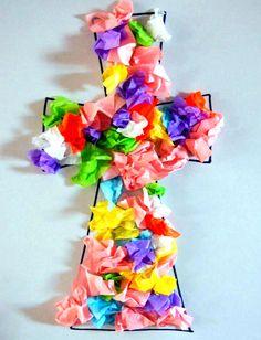 Adornar una Cruz de papel de seda es una actividad muy fácil para hacer con niños de preescolar. Una hermosa actividad de infantil para realizar en Pascua o en cualquier otra ocasión que requiera hacer manualidades cristianas con los niños....