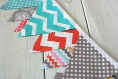 Bunting Banner  Fabric Flags Wedding Nursery by thespottedbarn, $32.50