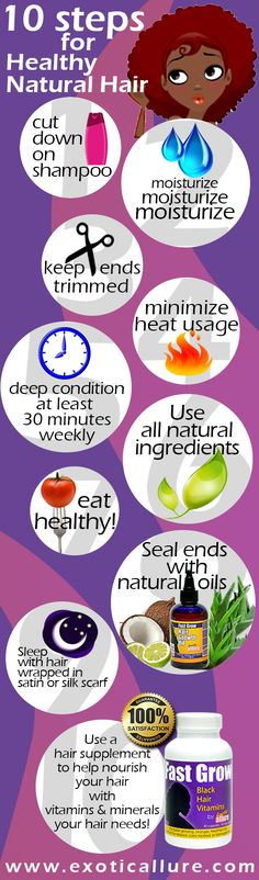 10 steps to healthy natural hair