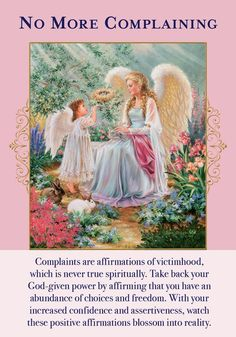 Oracle Card No More Complaining   Doreen Virtue - Official Angel Therapy Website