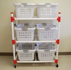 Duracart Basket Master Utility Cart - Best Home Idea Laundry Basket Holder, Laundry Basket Dresser, Laundry Basket Storage, Laundry Room Organization, Laundry Room Design, Storage Baskets, Laundry Organizer, Organizing, Business Furniture